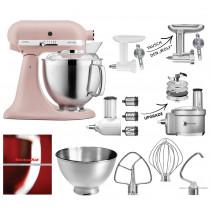 KitchenAid Artisan 185PS Feather Pink Fleischwolf-Gemüseschneider Set