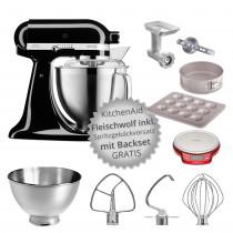 KitchenAid Artisan 185 Küchenmaschine mit Backzubehör onyx schwarz