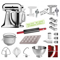 KitchenAid Küchenmaschine 185PS Mega-Paket chrom