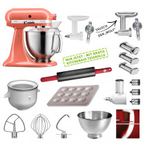 KitchenAid Küchenmaschine 185PS Mega-Paket coralle