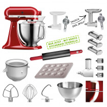 KitchenAid Küchenmaschine 185PS Mega-Paket empirerot