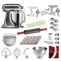 KitchenAid Küchenmaschine 185PS Mega-Paket gebürstetes Metall