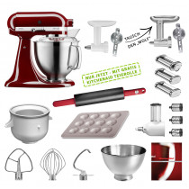 KitchenAid Küchenmaschine 185PS Mega-Paket purpur rot
