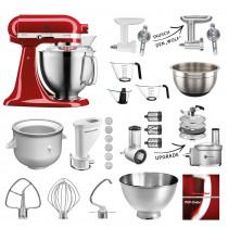 KitchenAid Artisan Küchenmaschine Meag-Sommer Set 185PS Empirerot