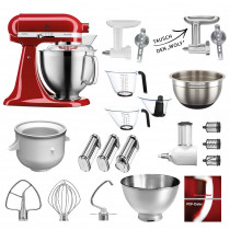 Mega-Paket KitchenAid Artisan 4.8L empire rot