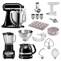 KitchenAid Küchenmaschine 185PS Sonder-Paket onyxblack schwarz
