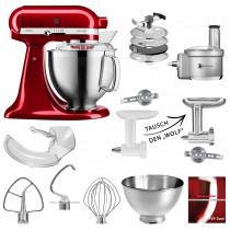 KitchenAid Küchenmaschine 5KSM185 Foodprocessor Set liebesapfelrot