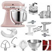 KitchenAid Küchenmaschine 5KSM185PS Foodprocessor neu Feder Rosa