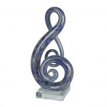 Casablanca Glasskulptur Dynamic H. 26 cm