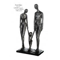 Casablanca Skulptur Family antik, silber Poly, H. 38 cm