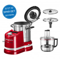 KitchenAid Artisan Cook Processor 5KCF0104EER/4 Empirerot + Foodprocessor 5KZFP11 im Set
