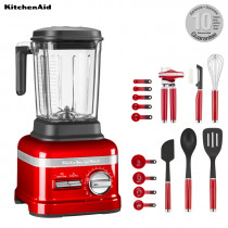 KitchenAid ARTISAN Power Plus Blender/Standmixer Liebesapfelrot + 15 tlg. Set