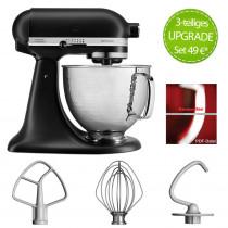 KitchenAid Artisan Küchenmaschine Schwarz matt 5KSM156HMEBM