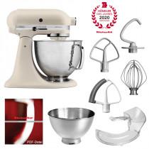 KitchenAid Artisan Küchenmaschine Fresh Leinen matt 5KSM156HMEFL Zubehör-Plus