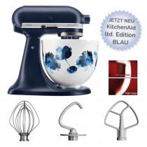 KitchenAid Artisan Küchenmaschine florale Keramikschüssel blau Limited Edition 4,8l