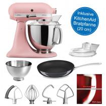 KitchenAid Artisan Küchenmaschine 175PS altrosa mit 20-cm Pfanne