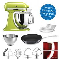 KitchenAid Artisan Küchenmaschine 175PS apfelgrün 4,8 Liter inkl. Bratpfanne
