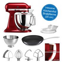 KitchenAid Artisan Küchenmaschine 175PS liebesapfelrot 4,8 Liter inkl. Pfanne
