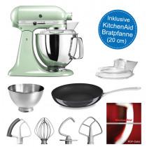KitchenAid Artisan Küchenmaschine 4,8l pistazie Set inkl. Bratpfanne mit 20 cm-Durchmesser