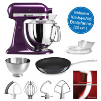 KitchenAid Artisan Küchenmaschine 175PSpflaume 4,8 Liter inkl. 20-cm Pfanne