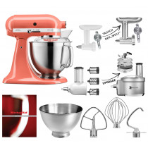 KitchenAid 5KSM185PS Coralle im Set mit Upgrade-Option Foodprocessor