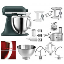 KitchenAid Küchenmaschine 185PS Fleischwolf Gemüse Set Pebbled Palm