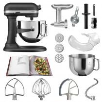 KitchenAid Küchenmaschine 6,9l Profi-Zubehör Set Gusseisen schwarz