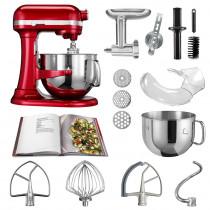 KitchenAid Küchenmaschine 6,9l Profi-Zubehör Set liebesapfelrot