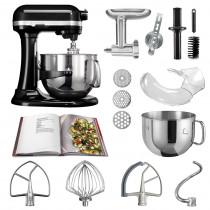 KitchenAid Küchenmaschine 6,9l Profi-Zubehör Set onyxschwarz