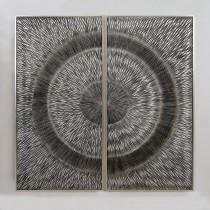 Casablanca Bild Objekt Kahuna silber 120 x 120 cm