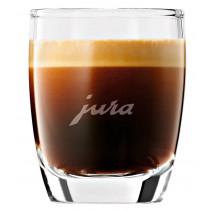 Jura Espressogläser 2er-Set gefüllt mit Kaffee - nicht im Lieferumfang