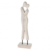 Casablanca Skulptur Couple Mangoholz/Eisen H. 55 cm