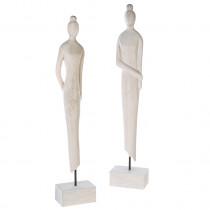 Casablanca Skulptur Lady Mangoholz/Eisen