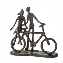 "Casablanca Design Skulptur ""Pair on Bike"" Eisen, brüniert"