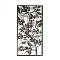 Casablanca Wanddeko Birds Metall, brüniert/silber