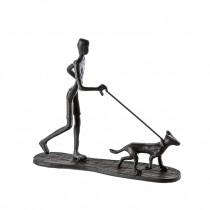 """Casablanca Design Skulptur """"Gassi gehen"""" Eisen"""
