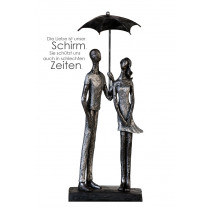 Casablanca Skulptur Umbrella Poly, antik-silber