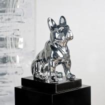 "Casablanca Skulptur ""Bulli"" silber, Poly auf Marmorsockel"