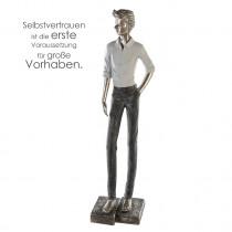 Casablanca Skulptur Modern Man, Poly, stehend