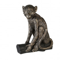 Casablanca Figur Monkeybranch Poly, antik-bronzefarben