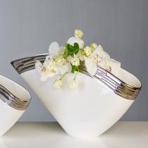 Casablanca Vase Penelope Keramik Platinrand 50 x 25