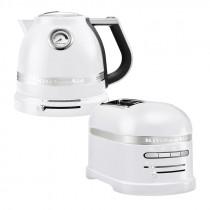 Set mit KitchenAid Effect Wasserkocher + Toaster Frosted Pearl