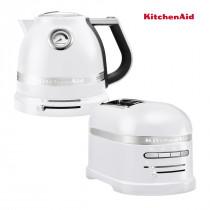 KitchenAid Artisan Wasserkocher 5KEK1522 + Toaster Frosted Pearl 5KMT