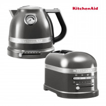 KitchenAid Effect Wasserkocher + Toaster Medallion Silber