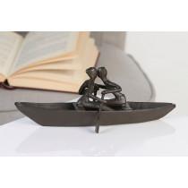 "Casablanca Skulptur ""Bootstour"" Eisen - Liebespaar beim Bootfahren"