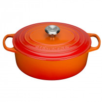 Le Creuset Signature Bräter oval 27 cm ofenrot Gusseisen