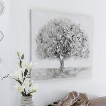 "Casablanca Ölbild ""Big Tree"" 70 x 90 cm Leinwand mit Acrylstruktur"