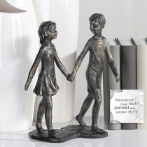 "Casablanca Skulptur ""Hand in Hand"", bronze finish"