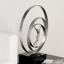 "Casablanca Skulptur ""Human"" Metall auf schwarzem Marmorsockel"