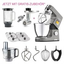 Kenwood Küchenmaschine Titanium Chef PatissierXL KWL90.594SI mit GRATIS-Fleischwolf